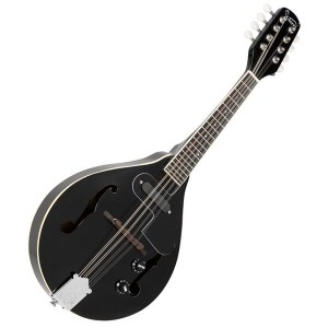 Glarry A Style 8-String Acoustic Electric Mandolin Double-Duty Mandolin with Gig Bag for Beginner Black