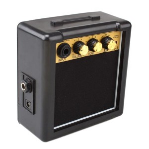 GT-3W Portable Mini Electric Guitar Amplifier Black and Golden  Suitable for Acoustic and Electric Guitars Not for Bass