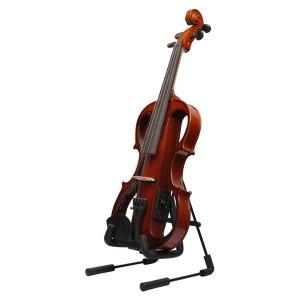 Glarry Foldable Instrument Stand for Ukuleles and Violins Black