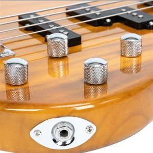 Exquisite Stylish IB Bass with Power Line and Wrench Tool Transparent Yellow
