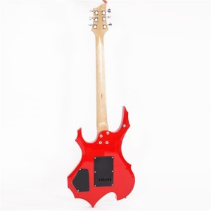 Glarry Flame Electric Guitar HSH Pickup Shaped Electric Guitar  Pack   Strap   Picks   Shake   Cable   Wrench Tool Red