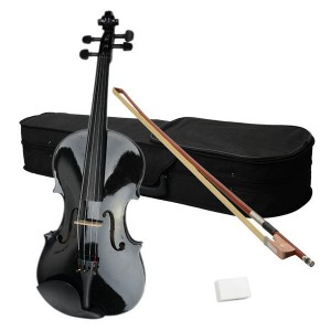 "15"" Acoustic Viola   Case   Bow   Rosin Black"